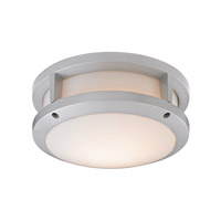 ELK Lighting Colby 1 Light Outdoor Flushmount in Matte Silver with White Acrylic Diffuser Shade 45132/LED