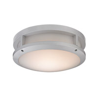 ELK Lighting Colby 1 Light Outdoor Flushmount in Matte Silver with White Acrylic Diffuser Shade 45133/LED