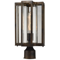 ELK Lighting Bianca 1 Light Outdoor Post Lantern in Hazelnut Bronze with Clear Glass 45148/1