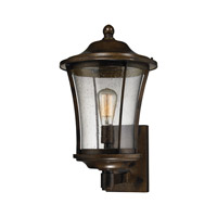 ELK Lighting Morganview 1 Light Outdoor Sconce in Hazelnut Bronze with Clear Glass 45152/1