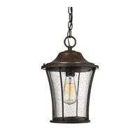 ELK Lighting Morganview 1 Light Outdoor Pendant in Hazelnut Bronze with Clear Glass 45153/1