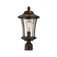 ELK Lighting Morganview 1 Light Outdoor Post Lantern in Hazelnut Bronze with Clear Glass 45154/1