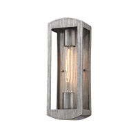 Elk Lighting Trenton 1 Light Outdoor Wall Sconce in Silvery Ash 45180/1