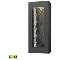 Jeremy LED 14 inch Matte Black Outdoor Wall Sconce