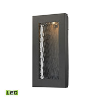 Elk Lighting Jeremy LED Outdoor Wall Sconce in Matte Black 45191/LED