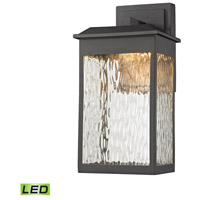 Elk Lighting Newcastle LED Outdoor Wall Sconce in Textured Matte Black 45200/LED