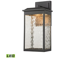 Elk Lighting Newcastle LED Outdoor Wall Sconce in Textured Matte Black 45201/LED