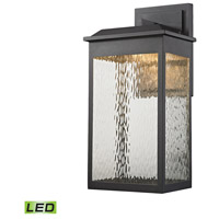Newcastle LED 22 inch Textured Matte Black Outdoor Wall Sconce