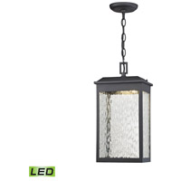 ELK 45203/LED Newcastle LED 8 inch Textured Matte Black Outdoor Hanging Lantern