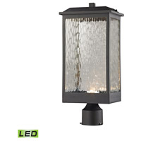 ELK 45204/LED Newcastle LED 19 inch Textured Matte Black Outdoor Post Mount