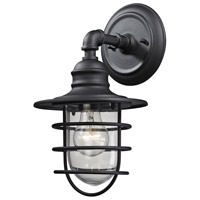Vandon 1 Light 13 inch Textured Matte Black Outdoor Wall Sconce