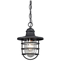 ELK 45213/1 Vandon 1 Light 7 inch Textured Matte Black Outdoor Pendant