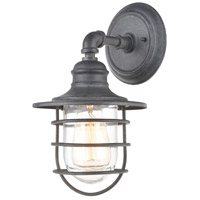 ELK 45222/1 Vandon 1 Light 13 inch Aged Zinc Outdoor Sconce