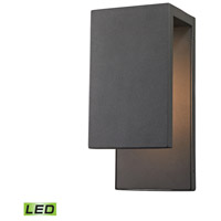 Elk Lighting Pierre LED Outdoor Wall Sconce in Textured Matte Black 45231/LED
