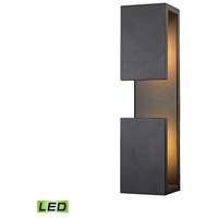 Pierre LED 19 inch Textured Matte Black Outdoor Wall Sconce