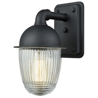 Channing 1 Light 9 inch Matte Black Outdoor Wall Sconce