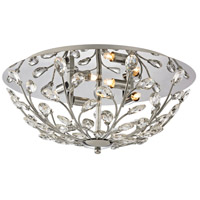 ELK 45261/4 Crystique 4 Light 17 inch Polished Chrome Flush Mount Ceiling Light