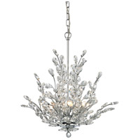 Crystique 6 Light 20 inch Polished Chrome Chandelier Ceiling Light