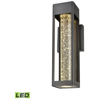 Emode LED 14 inch Matte Black Outdoor Sconce