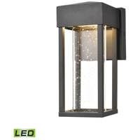 Emode LED 10 inch Matte Black Outdoor Sconce