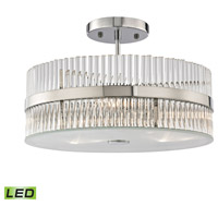 ELK 45285/3-LED Nescott LED 14 inch Polished Chrome Semi Flush Mount Ceiling Light