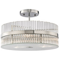 ELK 45285/3 Nescott 3 Light 14 inch Polished Chrome Semi Flush Mount Ceiling Light in Incandescent