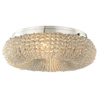 ELK 45290/4 Crystal Ring 4 Light 13 inch Polished Chrome Semi Flush Mount Ceiling Light in Incandescent
