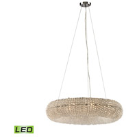 Crystal Ring LED 28 inch Polished Chrome Chandelier Ceiling Light