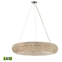 Crystal Rings LED 37 inch Polished Chrome Chandelier Ceiling Light