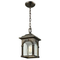 ELK 45303/1 Stradelli 1 Light 7 inch Hazelnut Bronze Outdoor Hanging Light