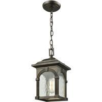 ELK 45303/1 Stradelli 1 Light 7 inch Hazelnut Bronze Outdoor Hanging Light