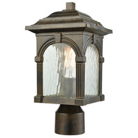 ELK 45304/1 Stradelli 1 Light 15 inch Hazelnut Bronze Outdoor Post Mount