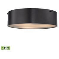 Clayton LED 16 inch Oil Rubbed Bronze Flush Mount Ceiling Light