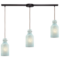 ELK 45345/3L Weatherly 3 Light 36 inch Oil Rubbed Bronze Mini Pendant Ceiling Light in Linear with Recessed Adapter, Linear