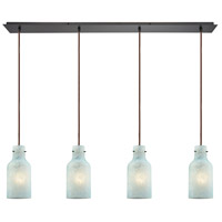 ELK 45345/4LP Weatherly 4 Light 46 inch Oil Rubbed Bronze Mini Pendant Ceiling Light in Linear, Linear