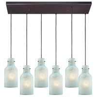 Weatherly 6 Light 30 inch Oil Rubbed Bronze Pendant Ceiling Light in Rectangular Canopy