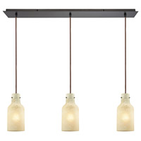 ELK 45355/3LP Weatherly 3 Light 36 inch Oil Rubbed Bronze Mini Pendant Ceiling Light in Linear, Linear