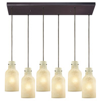 ELK 45355/6RC Weatherly 6 Light 30 inch Oil Rubbed Bronze Mini Pendant Ceiling Light in Rectangular Canopy Rectangular