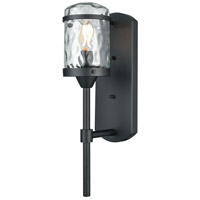 Torch 1 Light 17 inch Charcoal Black Outdoor Sconce