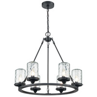 ELK 45406/6 Torch 26 inch Charcoal Outdoor Hanging Light