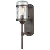 ELK 45411/1 Torch 1 Light 21 inch Hazelnut Bronze Outdoor Sconce