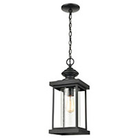 ELK 45453/1 Minersville 8 inch Matte Black Outdoor Hanging Light