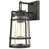 ELK 45490/1 Crofton 12 inch Charcoal Outdoor Sconce