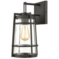 ELK 45491/1 Crofton 15 inch Charcoal Outdoor Sconce