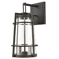 ELK 45492/2 Crofton 19 inch Charcoal Outdoor Sconce