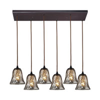 ELK Lighting Darien 6 Light Pendant in Oiled Bronze 46000/6RC