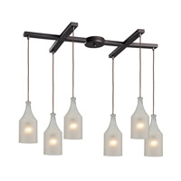 ELK Lighting HGTV HOME Skylar 6 Light Pendant in Oiled Bronze 46005/6
