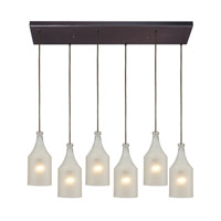 ELK Lighting HGTV HOME Skylar 6 Light Pendant in Oiled Bronze 46005/6RC