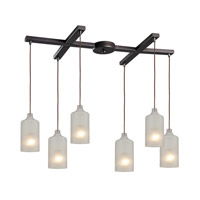 ELK Lighting HGTV HOME Skylar 6 Light Pendant in Oiled Bronze 46006/6