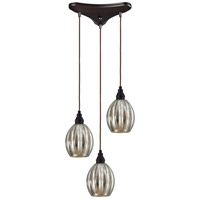 ELK Lighting HGTV HOME Danica 3 Light Pendant in Oiled Bronze 46007/3